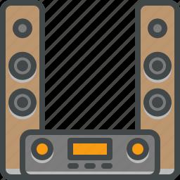 hifi, speakers, stereo icon