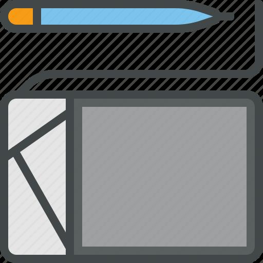 pencil, tablet, wacom icon