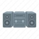 appliance, equipment, fixture, household appliances, music center, tape recorder icon