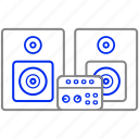 appliance, home, house, household, speakers icon