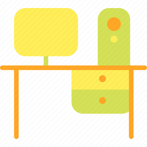 desk, furniture, home, house, household, table icon