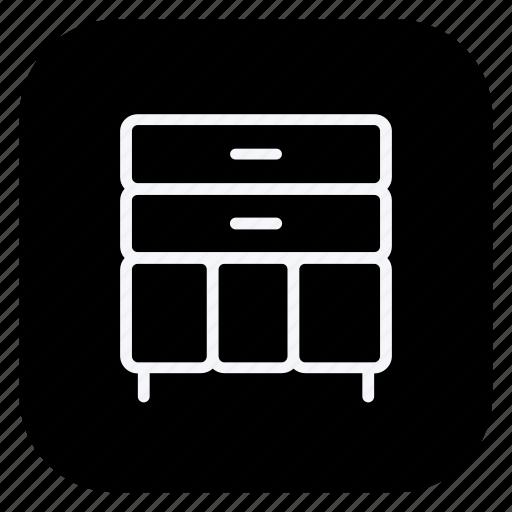 appliance, closet, drawer, furniture, home, locker, wardrobe icon