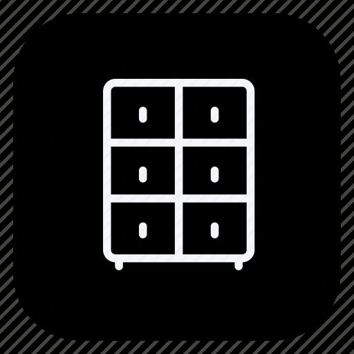 cabinet, closet, drawer, furniture, household, locker, wardrobe icon