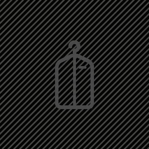 belongings, garment bag, hanger, households, interior icon