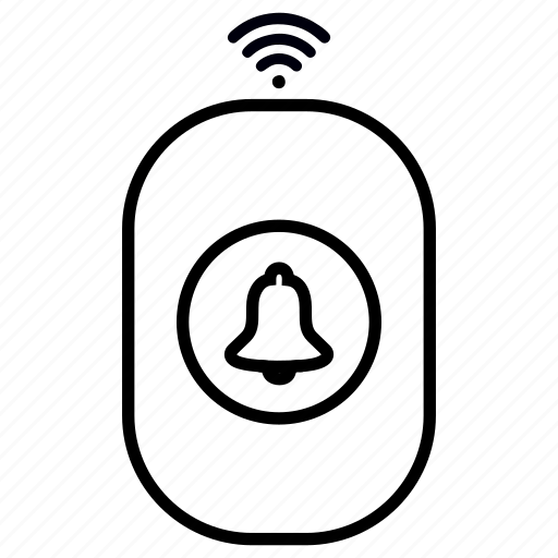 bell, door, plug, remote, smart, wireless icon