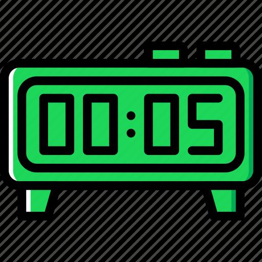 alarm, belongings, clock, furniture, households icon