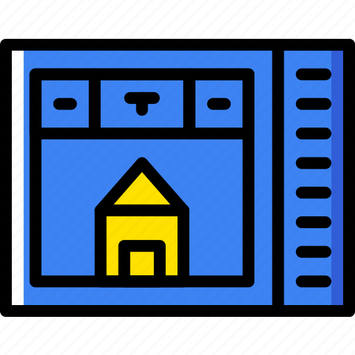 belongings, furniture, house, households, monitor icon