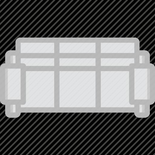 belongings, furniture, households, sofa icon