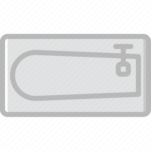 belongings, furniture, households, sink icon