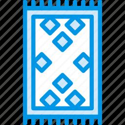 belongings, carpet, furniture, households icon