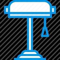 belongings, furniture, households, lamp, reading icon