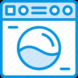 belongings, furniture, households, machine, washing icon