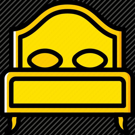 bed, belongings, furniture, households icon