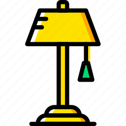 belongings, furniture, households, lamp, reading icon