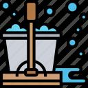 floor, mop, soap, bucket, disinfectant icon