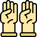 gloves, hands, protection, dishwasher, housework