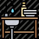 sink, kitchen, dishwashing, faucet, house
