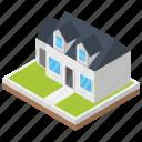 architecture, banglow, building, castle, real estate, villa icon