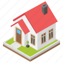 banglow, chalet, historical building, museum, villa icon