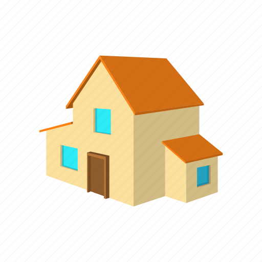 architecture, cartoon, estate, home, house, real, residential icon