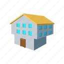 architecture, estate, home, house, real, residential, two-storey icon