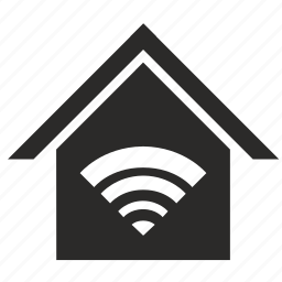 home, house, security, wifi icon