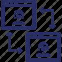 ux, ui, responsive design, app design icon