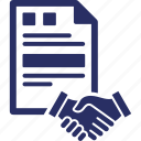 agreement, business document, contract, deal, hand shake