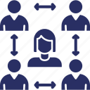 collaboration, group communication, people group, team discussion, team group icon