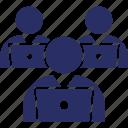 desk worker, employee, office desk, office staff, teamwork icon