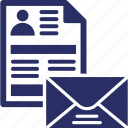 cv, cv by mail, cv letter, email, open mail icon