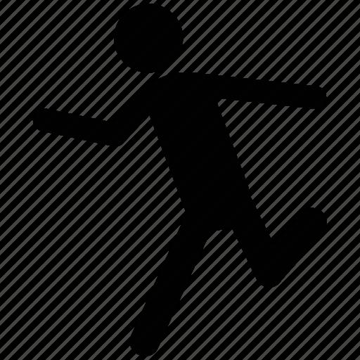 athelete, cricket bowler, racer, runner, sprinter icon