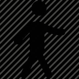 man, pedestrian, person, traveler, walker, walking icon