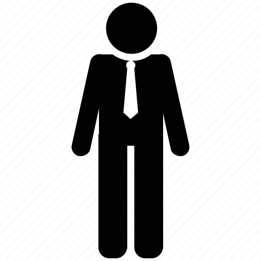 avatar, businessman, human, male, man, person, silhouette icon