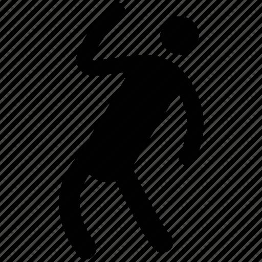 athlete, cricket bowler, man, sports person, sportsman icon