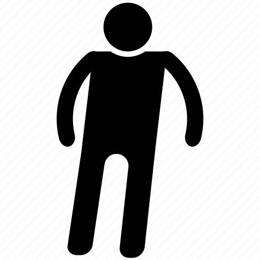 avatar, man standing, person, silhouette, user avatar icon
