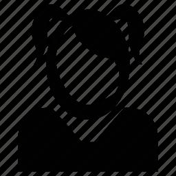 avatar, child, daughter, girl, kid, minor, schoolgirl icon