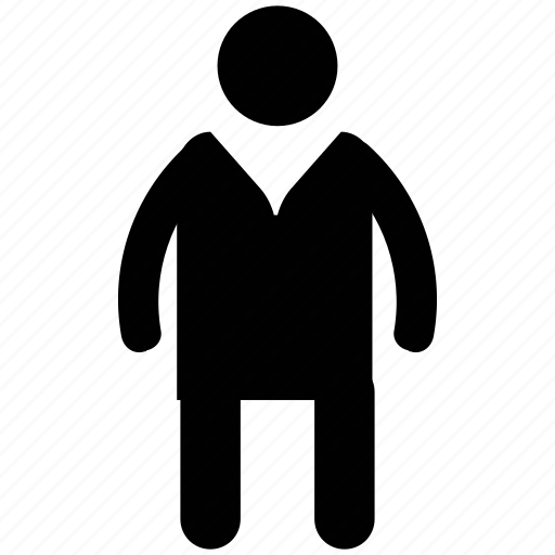 fat man, healthy man, man, overweight, plus size, posture, silhouette icon