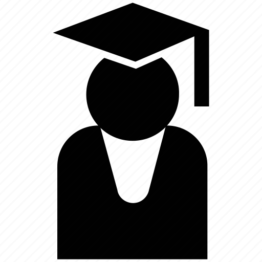 Graduate, learner, pupil, scholar, silhouette, student icon - Download on Iconfinder