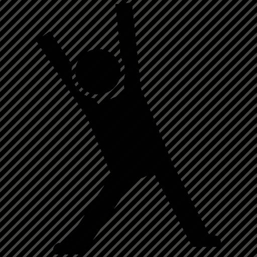 athlete, exerciser, sportsman, sportsperson, stretching, trainer icon
