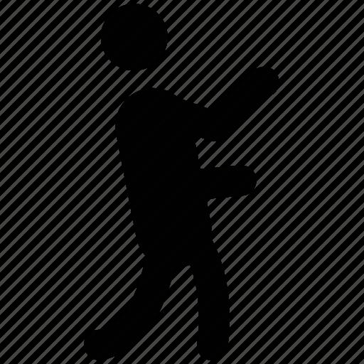 act, activity, cricketer, man, motion, sports man icon