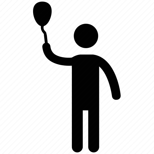 man with racket, sportsman, sportsperson, tennis player icon