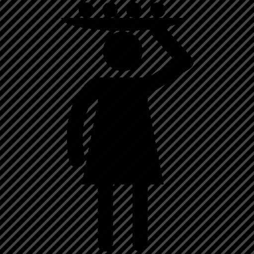 hawker, saleswoman, street vendor, vendor, woman vendor icon