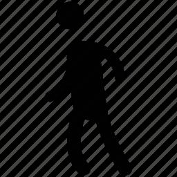 man walking, pedestrian, person, traveler, walker, walking icon