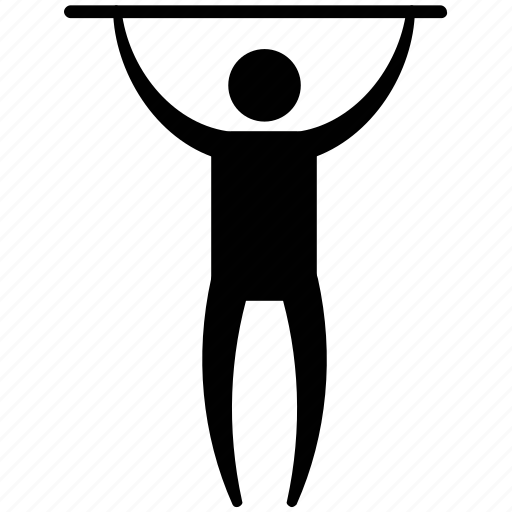 athlete, exerciser, gymnast, man standing, weight lifter icon