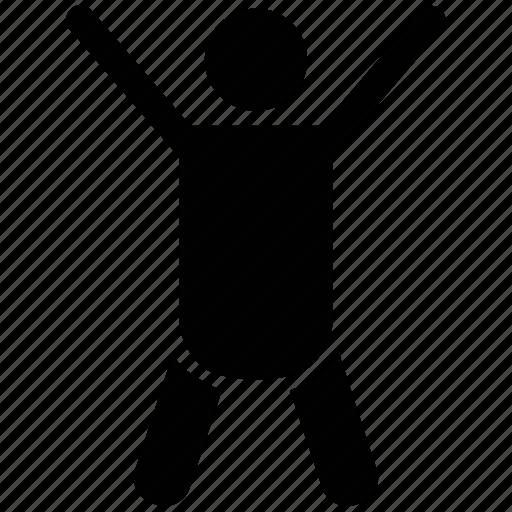 cheering, handsup, happy, happy person, joyful, raised hands icon