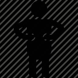 action, avatar, man, motion, movement icon