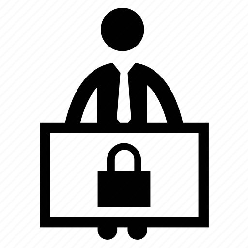 Avatar, man, man with banner, security agent, security officer icon - Download on Iconfinder