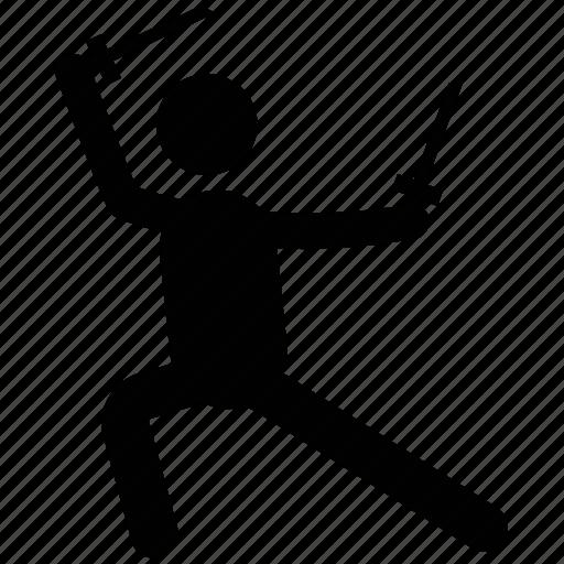 fighter, kung fu, martial arts, tai chi, wing chun icon