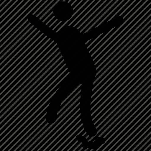 ice skater, skater, skating, sports, sportsman icon